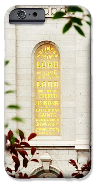 Holiness to The Lord iPhone Case by La Rae  Roberts