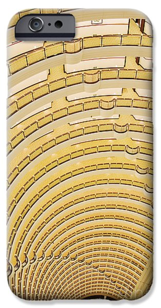 Hotel Atrium in the Jin Mao Tower iPhone Case by Jeremy Woodhouse