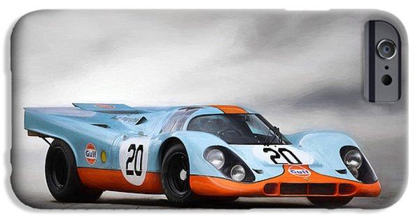 Le Mans 24 iPhone Cases - I Am Legend Porsche 917 iPhone Case by Peter Chilelli