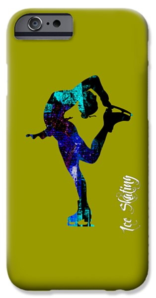 Winter iPhone Cases - Ice Skating Collection iPhone Case by Marvin Blaine