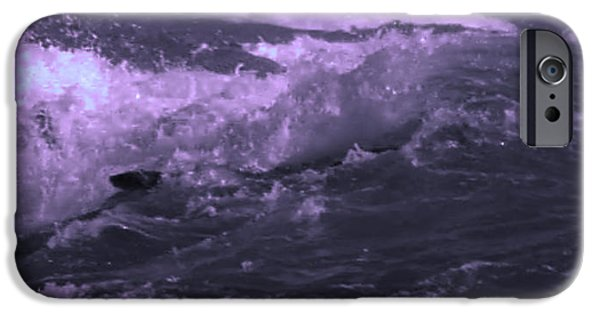 Abstract Seascape iPhone Cases - 2 Ideal Surf Waves photography and digital transformation iPhone Case by Navin Joshi