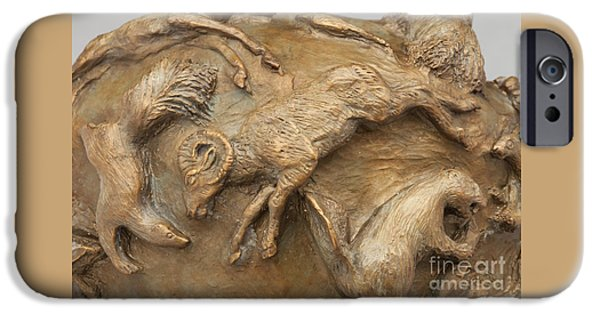 Western Reliefs iPhone Cases - In the Wild - Detail iPhone Case by Dawn Senior-Trask