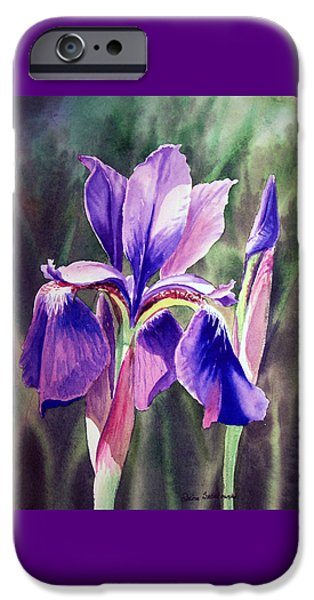Porch iPhone Cases - Purple Iris iPhone Case by Irina Sztukowski
