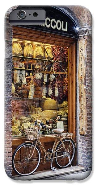 Delicatessen iPhone Cases - Italian Delicatessen or Macelleria iPhone Case by Jeremy Woodhouse