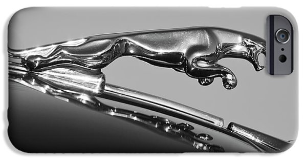 Hoodies iPhone Cases - Jaguar Hood Ornament 2 iPhone Case by Jill Reger