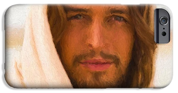 Jesus iPhone Cases - Jesus   iPhone Case by Jim  Hatch