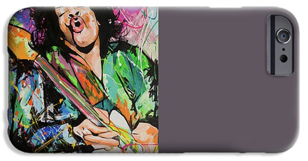 Bob Dylan Paintings iPhone Cases - Jimi Hendrix iPhone Case by Richard Day
