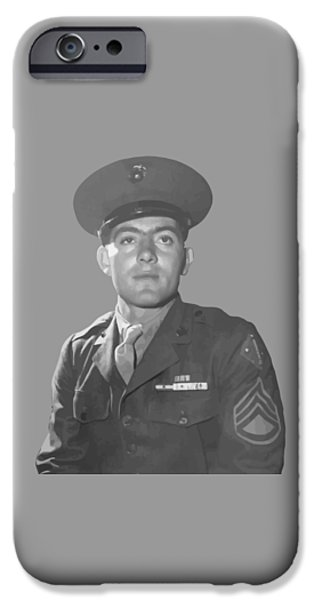 Soldiers Digital iPhone Cases - John Basilone iPhone Case by War Is Hell Store