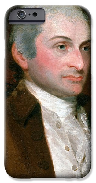 American Revolution iPhone Cases - John Jay, American Founding Father iPhone Case by Photo Researchers