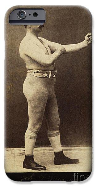 JOHN L. SULLIVAN (1858-1918) iPhone Case by Granger