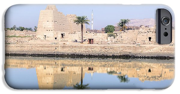 Thebes iPhone Cases - Karnak Temple - Egypt iPhone Case by Joana Kruse