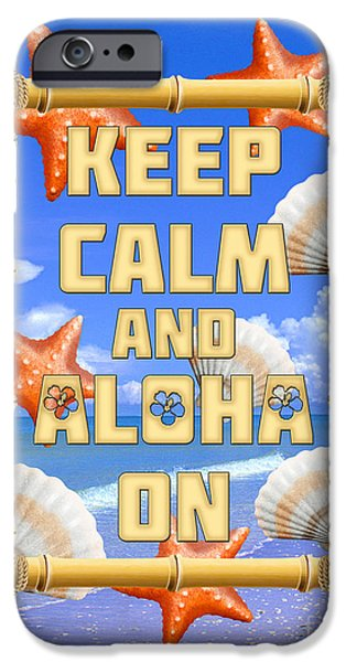 Island Stays iPhone Cases - Keep Calm And Aloha On iPhone Case by Chris MacDonald