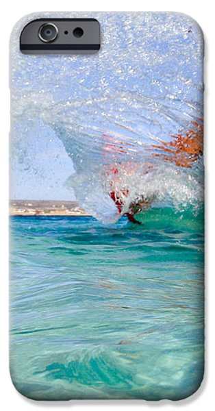 kitesurfing iPhone Case by Stylianos Kleanthous