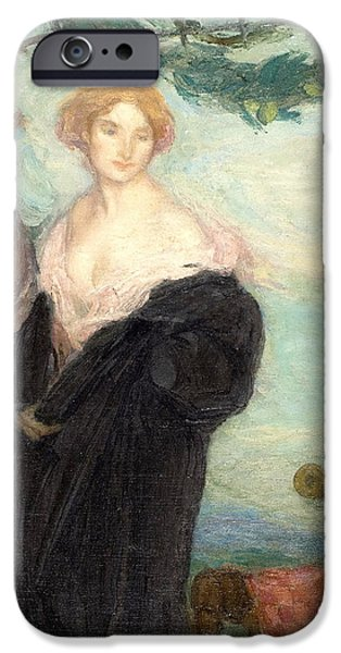 1907 Paintings iPhone Cases - Ladies iPhone Case by Celestial Images