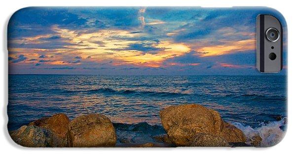 Beach Landscape iPhone Cases - Last Light iPhone Case by Amazing Jules