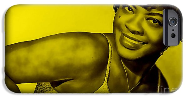 Blue iPhone Cases - LaVern Baker Collection iPhone Case by Marvin Blaine