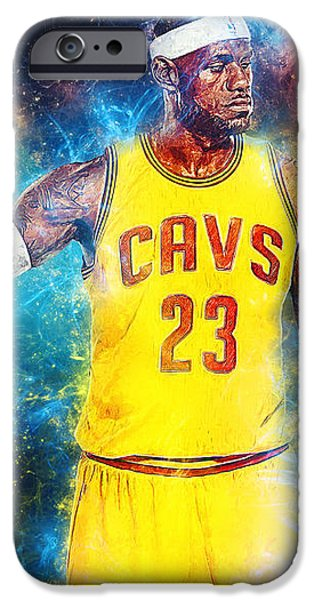 Kobe Bryant Abstract iPhone Cases - LeBron james iPhone Case by Taylan Soyturk