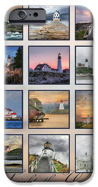East Quoddy Lighthouse iPhone Cases - Light the Way iPhone Case by Lori Deiter