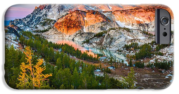 Fall iPhone Cases - Little Annapurna iPhone Case by Inge Johnsson
