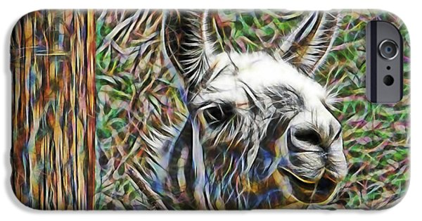 Nature iPhone Cases - Llama iPhone Case by Marvin Blaine