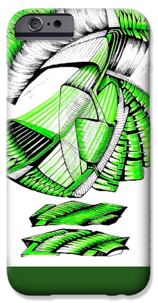 Abstract Digital Drawings iPhone Cases - Logo The Door iPhone Case by The Door Project