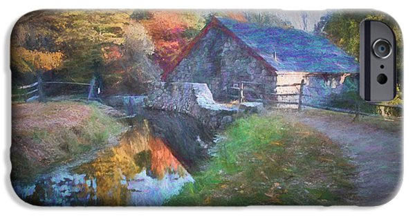 Grist Mill iPhone Cases - Longfellows Wayside Inn grist mill iPhone Case by Jeff Folger