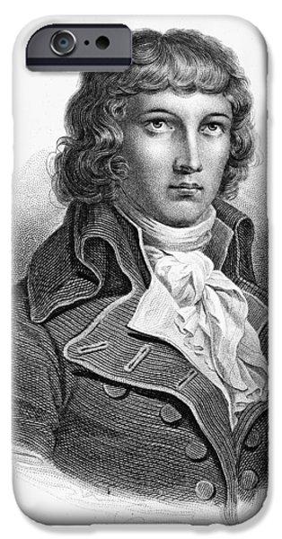 LOUIS SAINT-JUST (1767-1794) iPhone Case by Granger