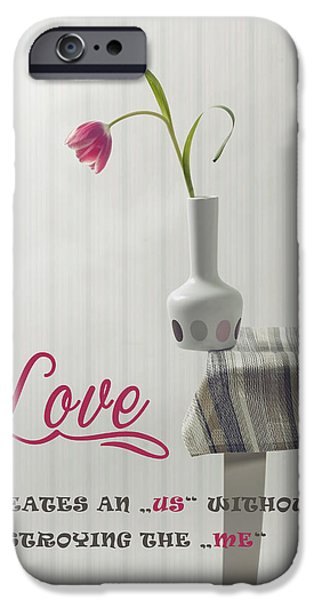 Table Cloth iPhone Cases - Love iPhone Case by Joana Kruse
