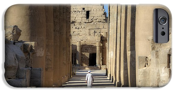 Thebes iPhone Cases - Luxor Temple - Egypt iPhone Case by Joana Kruse