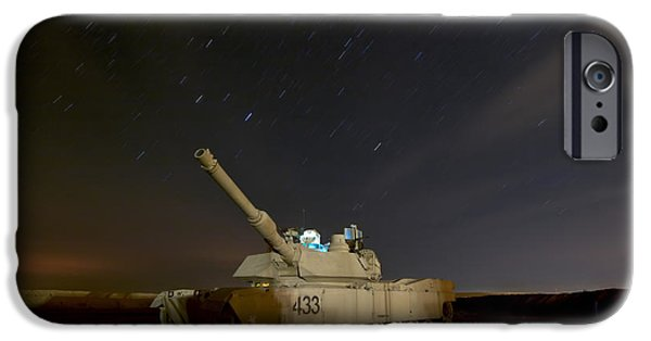 Stellar iPhone Cases - M1 Abrams Tank At Camp Warhorse iPhone Case by Terry Moore