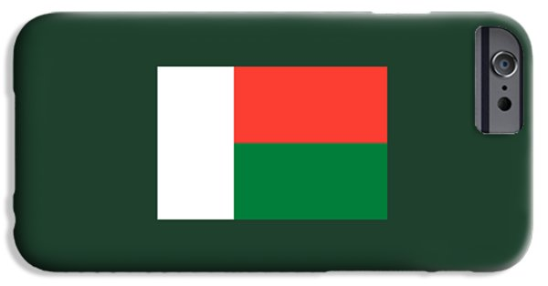 Flag iPhone Cases - Madagascar Flag iPhone Case by Frederick Holiday
