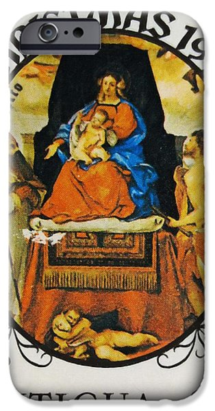 Painter Photographs iPhone Cases - Madonna and Child iPhone Case by Lanjee Chee