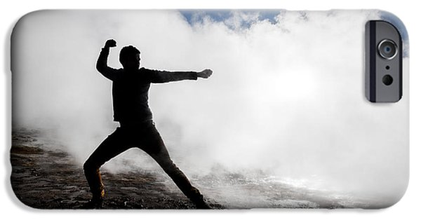 Alternative Energy iPhone Cases - Man In The Steam At Namaskard- iPhone Case by Panoramic Images
