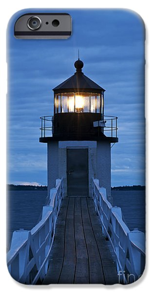Maine Seascapes iPhone Cases - Marshall Point Light iPhone Case by John Greim