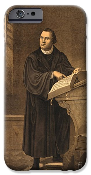 Reformer iPhone Cases - Martin Luther, German Theologian iPhone Case by Photo Researchers