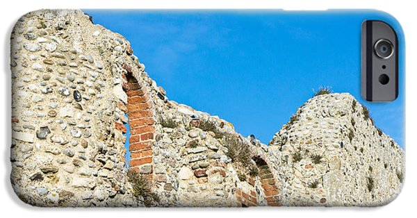 Abbey iPhone Cases - Medieval wall iPhone Case by Tom Gowanlock