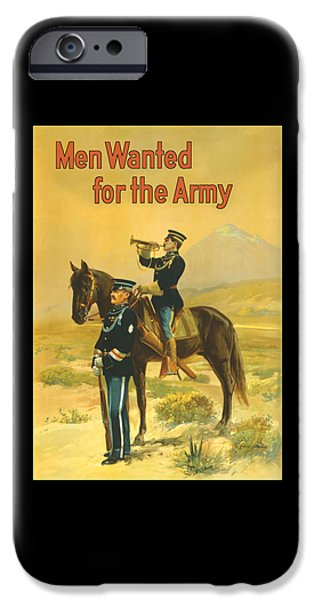 Ww1 iPhone Cases - Men Wanted For The Army iPhone Case by War Is Hell Store