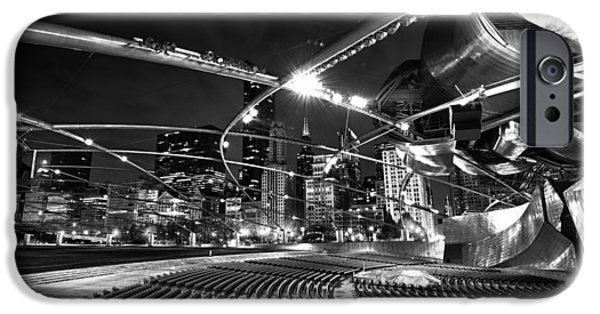 White Photographs iPhone Cases - Millennium Park iPhone Case by Sebastian Musial