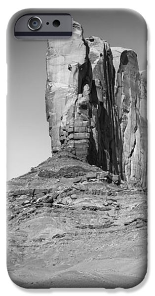 Navajo Nation iPhone Cases - MONUMENT VALLEY Camel Butte black and white iPhone Case by Melanie Viola