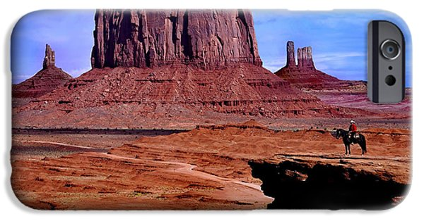 Red Rock iPhone Cases - Monument Valley iPhone Case by Martin Massari