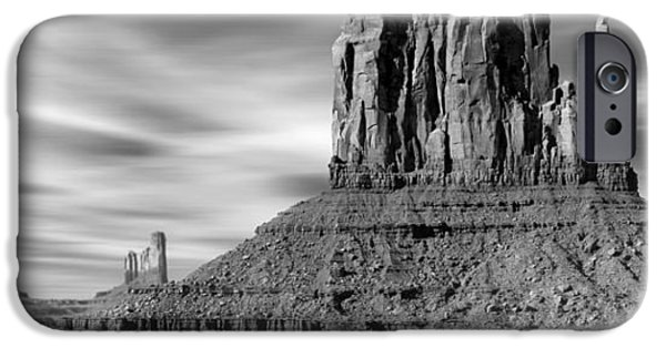 Nation iPhone Cases - Monument Valley iPhone Case by Mike McGlothlen