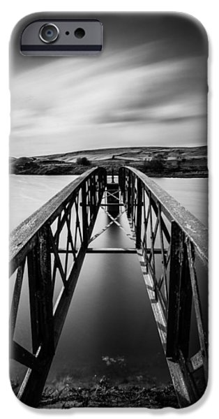 Built Structure iPhone Cases - Moving Clouds Above A Small Lake On The British Hills. iPhone Case by Daniel Kay