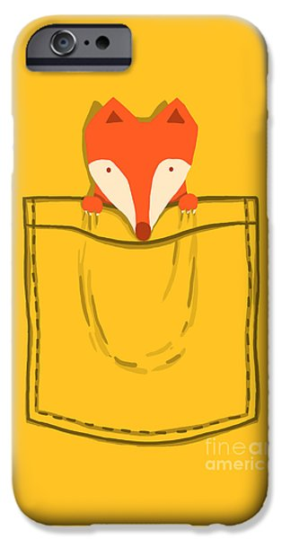 Fox iPhone Cases - My Pet iPhone Case by Budi Kwan
