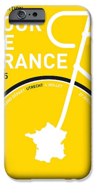 Cycle iPhone Cases - My Tour De France Minimal Poster iPhone Case by Chungkong Art