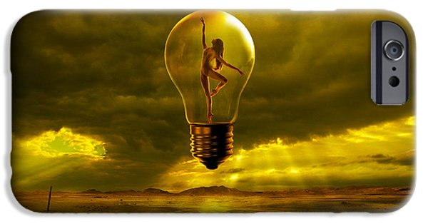 Light Bulb iPhone Cases - Mystical Light iPhone Case by Franziskus Pfleghart