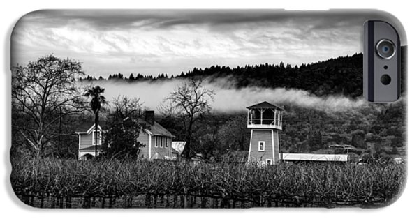 Recently Sold -  - Agriculture iPhone Cases - Napa Valley Vineyard On A Cloudy Day iPhone Case by Mountain Dreams