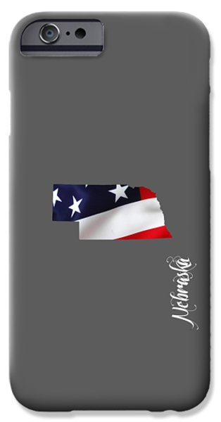 Modern iPhone Cases - Nebraska State Map Collection iPhone Case by Marvin Blaine