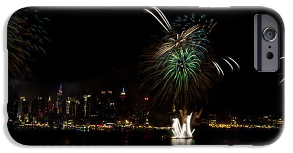 Fourth Of July iPhone Cases - New York City Fireworks iPhone Case by Anthony Totah