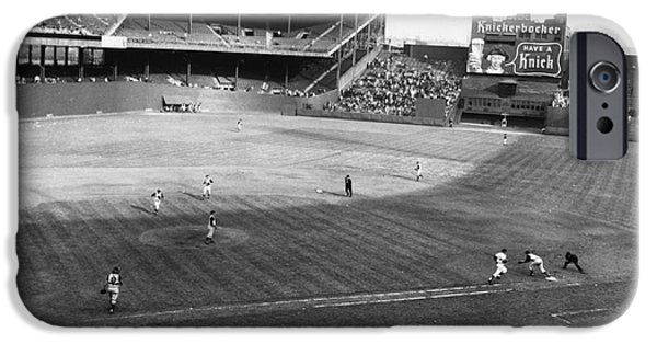 Rhodes iPhone Cases - New York: Polo Grounds iPhone Case by Granger