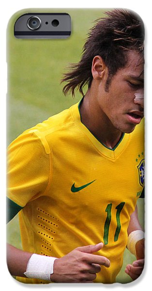 Neymar Junior iPhone Case by Lee Dos Santos